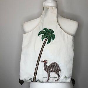 Vintage camel tote bag
